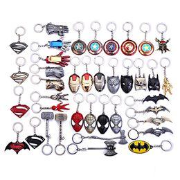 $enCountryForm.capitalKeyWord Canada - Anime Keychain Women Man Metal Superman Keyrings Gift Toys Jewelry Accessories Key Chain