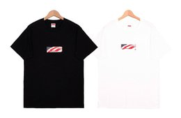 Wholesale 01fw Sticker Box Tee U s a National Flag Bogo Anniversary Out Of Print Cotton Tee Men And Women Couple Designer T shirt Hfwptx287