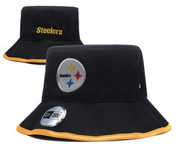 Chinese  One Piece Men's Steelers Sport Outdoor Bucket Hats Team Logo Brands Fans Hip Hop Fishing Hat Cheap Sunhat Headwear Baseball Fisherman Caps manufacturers