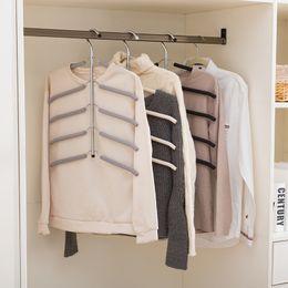 $enCountryForm.capitalKeyWord Australia - Multilayer Fish Bone Shape Stainless Steel Clothing Storage Racks Clothes Hanger Storage Holder Wardrobe Laundry Drying Rack