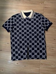 Wholesale shirt for design for sale – custom New design for men s polo mismatched letter print summer short sleeved polo shirt with lapel and short sleeve APP88