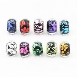 $enCountryForm.capitalKeyWord Australia - Lampwork Glass Charm Loose Beads Style Fit Pandorx Bracelets Alloy Big Hole Beads for Bangles European Jewelry Accessories DHL