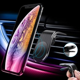 air vent magnetic phone holder Australia - Magnetic L Shape Air Vent Mount Stand In Car Gps Mobile Phone Holder For Iphone X Samsung S9 Xiaomi Huawei Lowest pricelow price