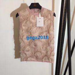 $enCountryForm.capitalKeyWord Australia - high end women girls knit vest t-shirt patchwork tassel sleeveless crew neck tee shirt casual blouse sweatshirts fashion design luxury top