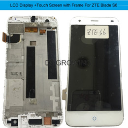"""Lcd Screen Touch Fix Australia - DG1 PCS Lot No Dead Pixel 5.2"""" Tested LCD Display+Touch Screen Assembly Replacement Fix For ZTE Blade S6 +Free Shipping"""