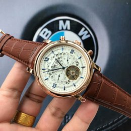 Wholesale mens valentines gifts resale online - For Automatic Genuine Quality Fashion Dial Top Valentine mm Mechanical Men Leather Strap Mens Watches Watch Men Best Gift Wristwatche Xkja