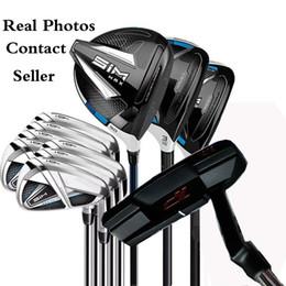 Ücretsiz Golf atıcı + Komple Set SIM MAX Golf Kulüpleri Sürücü 3. 5. Woods + Irons Gerçek Resimler Satıcıyla