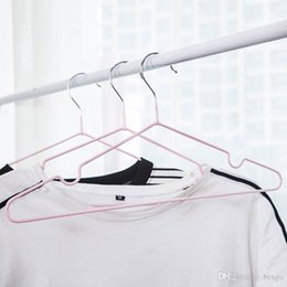$enCountryForm.capitalKeyWord NZ - Clothing Support Durable Thicken Hanger Home Metal Hanger Windproof Anti-skid Clothes Hanging Waterproof Clothes Rack No Trace BC BH1573