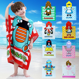 $enCountryForm.capitalKeyWord Canada - 6 Pcs lot New Fashion Children Cotton Cartoon Bathrobe Baby Boys Girls Cape Cloak Hooded Towel Bath Towel Beach Towel Sleepwear Night Robe