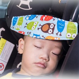 infant neck support Australia - Car Safety Seat Head Support Pad Fixed Band Car Headrest Pillow infants Baby Sleep Positioner Adjustable Head Protector Holder
