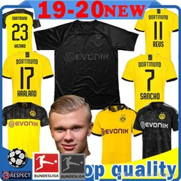 MEN Borussia Dortmund HAALAND 17 100th Soccer Jersey SANCHO REUS M.GOTZE HUMMELS football shirt BRANDT HAZARD SCHULZ WITSEL Maillots de foot on Sale