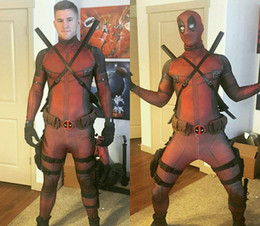 Wholesale deadpool spandex costume for sale – halloween Hot sale Marvel Halloween Deadpool Cosplay Costume Full Body Adult Digital Print Lycra Costume Kids party stage outfits