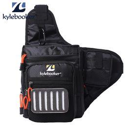 Chinese  Kylebooker Fishing Bag Multi-Purpose Canvas Waterproof Fishing Reel Lure Tackle Bag manufacturers