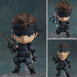 metal gear solid toys 2019 - Anime figure Marvel Nendoroid 447 Metal Gear Solid Snake 10cm Action Figures Toys Children model gift discount metal gea