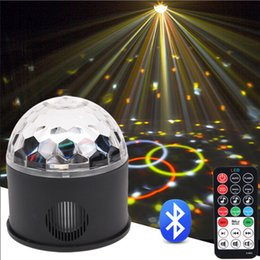 $enCountryForm.capitalKeyWord NZ - RGB Led Disco Ball party Light Crystal Sound Party Stage Lights Bluetooth Speaker For Home Karaoke Music Player