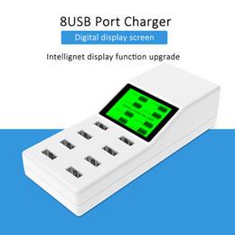 $enCountryForm.capitalKeyWord NZ - Universal 8 USB Ports Smart Charger Led Display US EU UK Plug Travel AC Power Strip Adapter Socket For Cell Phone Tablet Camera