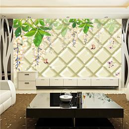 $enCountryForm.capitalKeyWord Australia - 3D murals wallpaper TV sofa bedroom background Wall 3D soft bag embossed flower vines pattern design modern fashion wall home decor