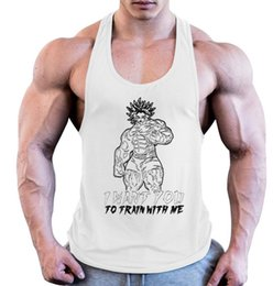 $enCountryForm.capitalKeyWord Australia - 2019 Youth Camisole Trend Cross-Border Products Men's Fitness Sports Pure Cotton Omaru Goku Printed New Type I-Word Training vest GYM
