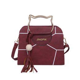$enCountryForm.capitalKeyWord Australia - 2019 New Korean Version Of Simple And Stylish Portable, Messenger Bag Tassel Wild Shoulder Girl Cute Small Bag