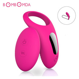 Male vibrator reMote online shopping - Penis Sleeve Vibrator Ring G spot Clitoris Stimulator Vibrating Dildo Massager Remote Control Vibrator For Man Sex Toys
