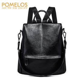Soft Back Packs Australia - POMELOS Backpack Women 2018 Autumn New Woman Back Pack Soft PU Leather Anti Theft Backpack Bag School For Teenage Girls #226852