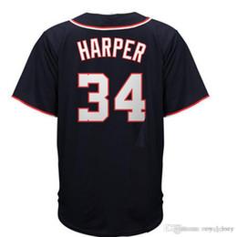 0061afc05 Men s  34 Bryce Harper Deep blue Home Cool Base Player Jersey