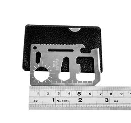 Multifunction Survival Card Australia - 11 In 1 Multifunction Tools Hunting Camping Survival Pocket Knife Credit Card Knife Stainless Steel Outdoors Gear EDC Tools