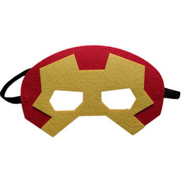 funny birthday cartoons NZ - Superhero masks for kids birthday party Halloween Cosplay Masks Cartoon Felt Mask Costume Party Masquerade Eye Mask Children Christmas gift