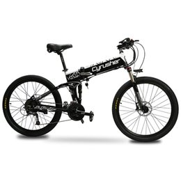 $enCountryForm.capitalKeyWord Australia - Cyrusher XF770 48V 500W electronic Folding Bike 26*1.95 Spoke Tire Aluminum Alloy Frame electric bicycle with smart lCD display