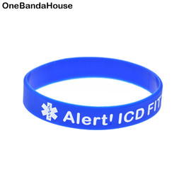 $enCountryForm.capitalKeyWord Australia - Wholesale 100PCS Lot Alert! ICD Fitted Silicone Wristband Medical Decoration Bracelet As A Reminder in Daily Life