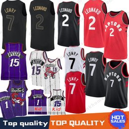 Toronto 2 Kawhi Leonard Raptors Jersey 7 Kyle Lowry 15 Vince Carter Tracy  McGrady 1 Penny Anfernee Hardaway Orlando Retro Kid Jerseys b40109c4d