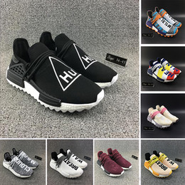 b6ea21cd0 With Box Heart Mind HU TR Human Race Running Shoes Friends And Family Solar  Pack Pharrell Williams men women Trainers runner Sports Sneakers