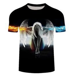 acb048f82286 New Fashion Plus Size 6XL Brand T-Shirt Men Women 3D Printed Angel  Compression Short Sleeve Summer Men T Shirt Funny Tops