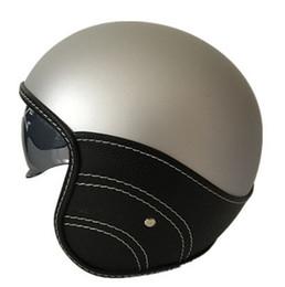 Discount pink moto helmet - Harley 3 4 Open Face Vintage Helmet Moto Casque Casco Motocicleta Capacete Helmets Motorcycle Helmet Retro Vin H