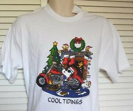 Snoopy Shirts Australia - Peanuts SNOOPY And WOODSTOCK Cool Tidings T-SHIRT Tee MEN'S Size M NEW W TAG!