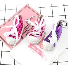 $enCountryForm.capitalKeyWord NZ - Free DHL 2019 Sequins Sneaker Keychain Tennis Shoes Key Rings For Women & Men Pendant Accessories Key Holder 5 Styles Creative Gift H487Q F