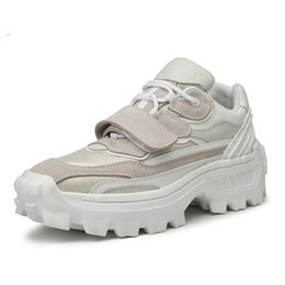 $enCountryForm.capitalKeyWord UK - Genuine Leather Shoes Men Thick Sole Trendy Chunky Sneakers Flat Platform Casual Shoes Zapatos De Hombre Black Beige
