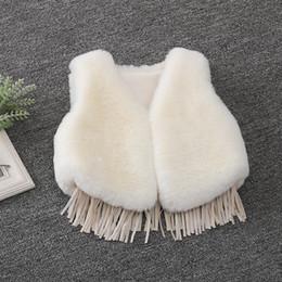 White Faux Fur Shorts Australia - 2019 New Winter Fashion Baby Girls Fur Outerwear Thicken Warm Vest V-neck Faux Fur Colorful Vest Children Clothing Costume Vw029