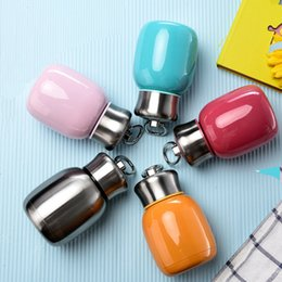 cute tumblers NZ - HOT SALE!! 200ML 280ML Mini Cute Coffee Vacuum Flasks Thermos stainless steel tumbler Travel Drink Water Bottle Thermoses Cups and Mugs