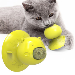 licking toys UK - Catnip Ball with Suction Cup Toys for Cats Lick Safe Healthy Mint Kitten Toys Teeth Cleaning Dental Cat Toy Cat Wall Treats