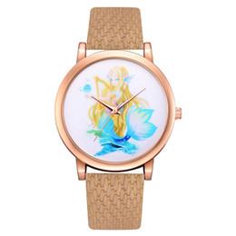 $enCountryForm.capitalKeyWord UK - GENBOLI Children Quartz Watches Mermaid Girl Pattern Leather Strap Analog Quartz Wrist-Watch Fashionable Popular Sweety Gift