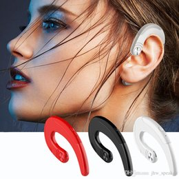 Iphone Ear Australia - Q25 Bone Conduction Earphone Wireless Bluetooth Headphones Sweat-proof Sports Headset Ear Hook With Mic for iPhone Android Smart Phones