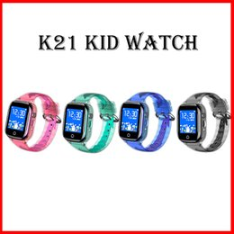 $enCountryForm.capitalKeyWord NZ - 2019 K21 Smart Watch HD Touch Screen Waterproof Phone GPS Positioning Children Smartwatches for IOS Android Kids Watches