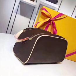 Leather Travel Cosmetic Bag Case Australia - 2018Free shipping Wholesale luxury designer double zipper women cosmetic bag big travel organizer storage wash bag high quality leather case