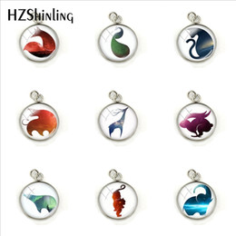$enCountryForm.capitalKeyWord Australia - 2019 New Beauty Cute Animals Colorful Silhouette Glass Pendant Jewelry Men's Ladies Fashion Charms Gifts Accessories