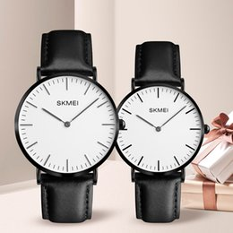 men women couple watches Australia - wholesale Lovers Watches Women Men Black Leather Quartz Wrist Watch Couples Woman Man Fashion Casual Wristwatches Relogio Clock 1182
