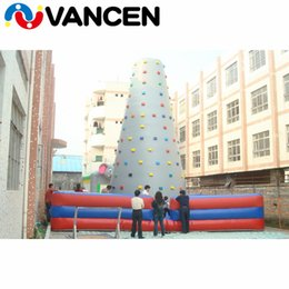 Rocking Toys Australia - Factory direct 6*6*5m inflatable tower climbing wall indoor bouncing mountain tower 0.55mm PVC inflatable rock climbing wall