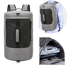 Train Usb Australia - 2 in 1 Men USB Charging Gym Bag Carry On Handbag 35L Luggage Duffel for Fitness Training Sport Backpacks Large Capacity Bolsos #944695