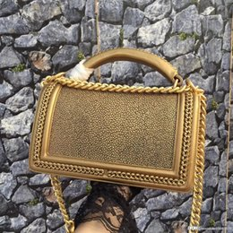 Women new chain Flaps bag Le Boy BEST A+Quality Classic clutch purses  handbags women fashion chains real stingray leather shoulder bags ce78e6e8052ab