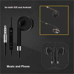 headset mic jack NZ - 3.5mm Audio Jack Earphone White for IOS Android Music Phones Universal in Ear Earbuds with MIC Volume Control headsets Crystal Package